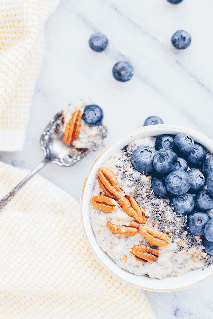 A spin on the usual boring oatmeal. This Instant Pot power meal is filled with vitamins, minerals, fiber, protein, and antioxidants. Start your day off right with chia seeds, berries, and steel cut oats.