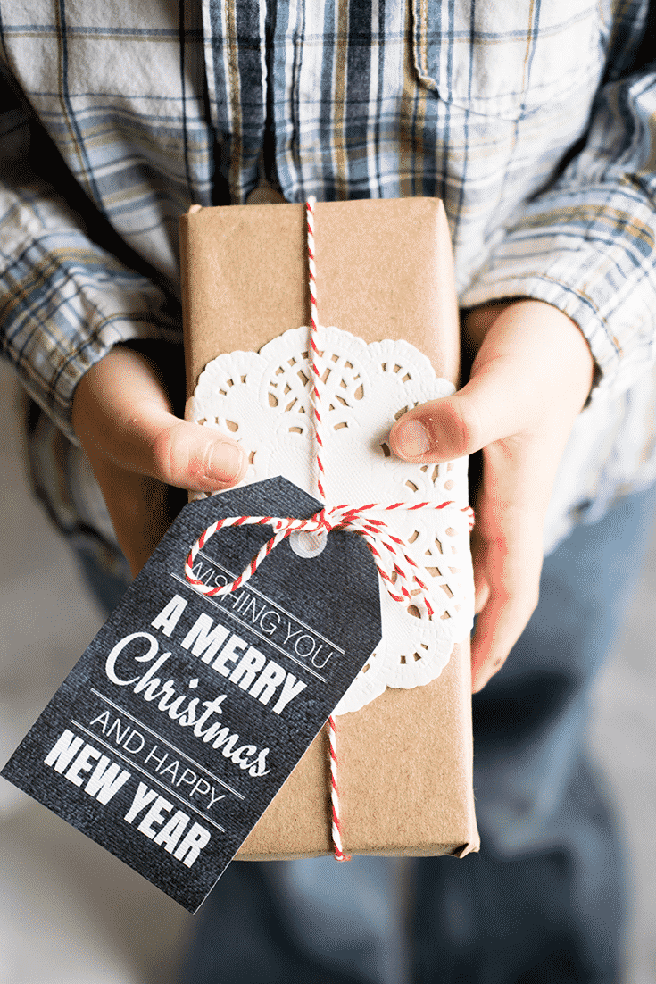 Simple Holiday Gift Tags Printable