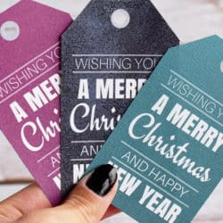 Printable Simple Christmas Gift Tags