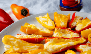 Spicy food isn't for everyone, which makes these stuffed sweet peppers the ultimate party snack. Perfect for the Super Bowl!