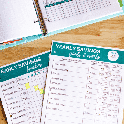 Do you want to create a savings plan that actually works? Here is the exact system that keeps me out of debt and allows me to save cash for the future!