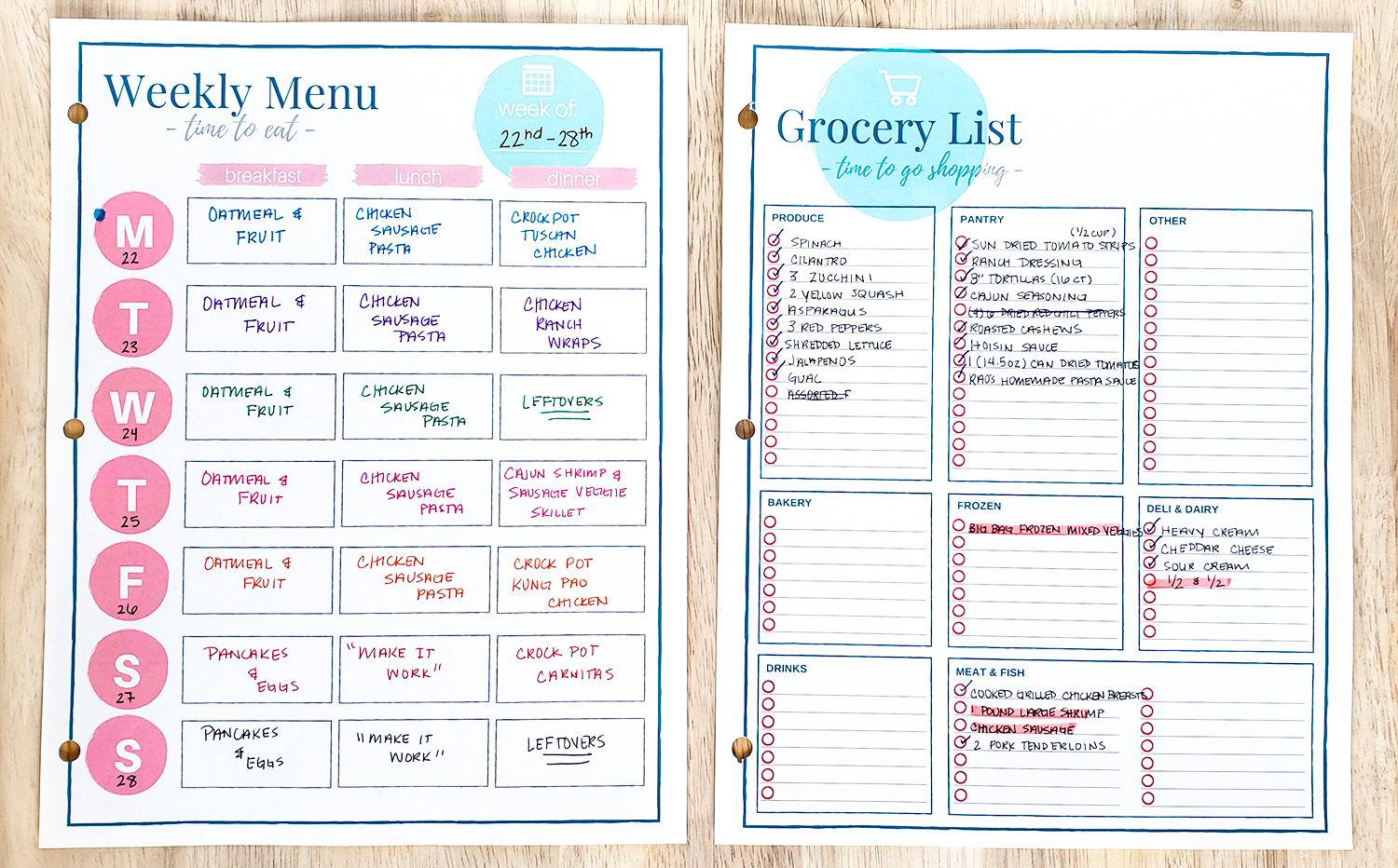 A realistic view into my $400 per month meal plan! Get every recipe that I used in my July meal plan, my grocery lists, costs, and so much more!
