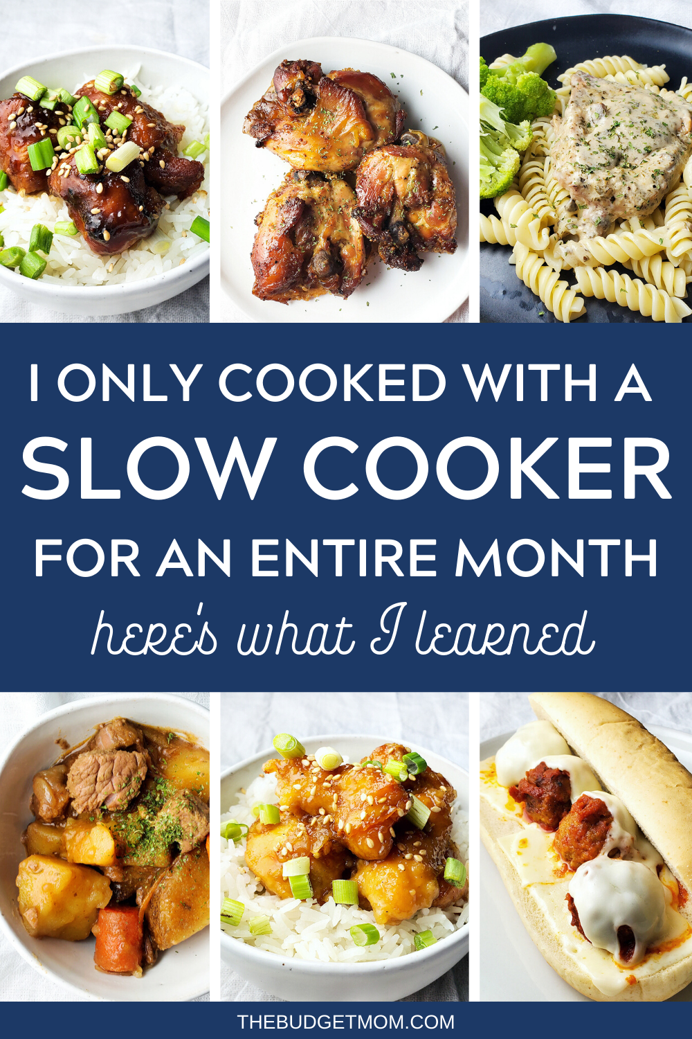 I challenged myself only to use a slow cooker for an entire month. Here are all of the recipes that I made and the surprising things that I learned. #crockpot #slowcooker #easyrecipes