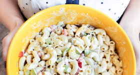 An easy classic Macaroni salad recipe that is a perfect side dish to your BBQ meals and the warmer weather. Save money by using ingredients you already have at home!